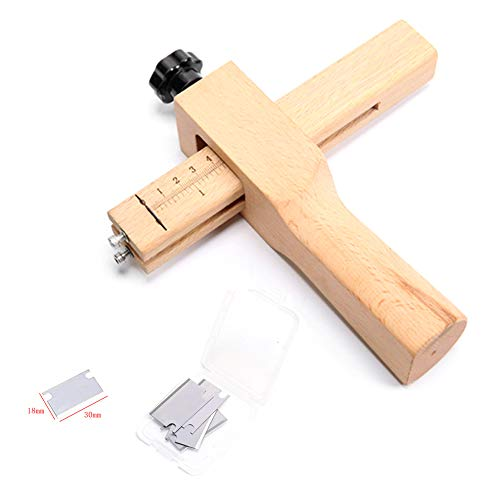 Professional Adjustable Leather Strap Cutter Leather Craf DIY Hand Cutting Tool with Blades