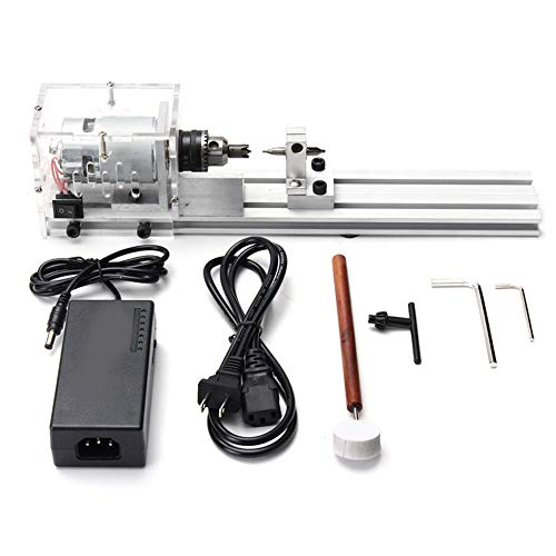 Find Discount DIY Mini Lathe Machine Tools,24V /80W DIY Woodworking Buddha Pearl Grinding Polishing ...