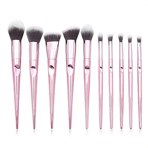 Pinceau Set Foundation Blending Face Poudre Blush Correcteur Contour Fard À Paupières Brosses (10pcs) Brosse douce