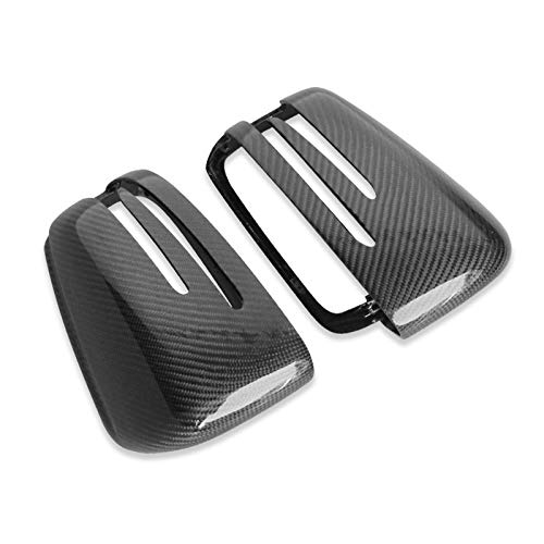 FLJKCT Cubierta del Espejo retrovisor 1 par de Accesorios Exteriores del Coche de la Cubierta del Espejo retrovisor ABS de Repuesto, para Mercedes Benz W218 W221 W246 W117 W204 A45 SC 63 AMG