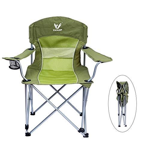 Chaises de camping Support De Dossier Haut De avec Porte-gobelet, Chaise De Pêche Robuste Se Pliante Extérieure, Prend en Charge 220lbs