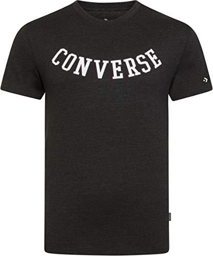 Converse Rvrse Athletic Arch Tee T-Shirt Black – , Homme, Noir (Black Heather)