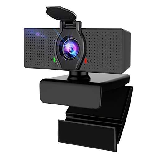 Walkbee Webcam mit Mikrofon und Datenschutzabdeckung, 1080P HD Desktop Streaming Webcam USB-Computerkamera für Mac und PC Laptop, Laptop Webkamera für Videoanrufe Gaming Recording Conferencing by