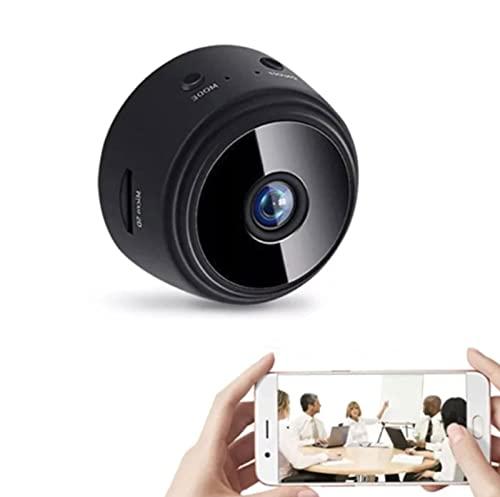 cámara de visión, A9 Mini WiFi HD 1080p cámara IP inalámbrica para visión nocturna y detección de movimiento para coche, oficina, hogar