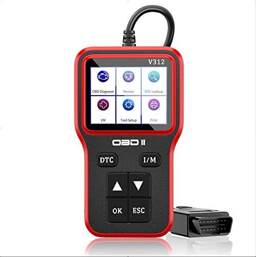OBD2 Scanner Diagnostic Auto Lire et Effacer Erreur Codes Moteur OBD II Outil Diagnostic Batterie Diagnostique Outil Avec Stockage/...
