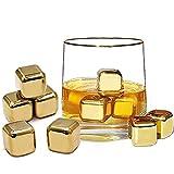 100 Piezas Cuboshielo De Acero Inoxidable, Reutilizables Cubitos De Hielo, Whisky Piedras Set, Acero Inoxidable 304 y Con Caja De Almacenamiento, Para Whisky, Bourbon, Tequila, Vodka, Uvas Blancas