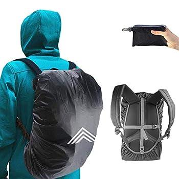 Frelaxy Housse de pluie pour sac à dos cartable (15-90 l) - Imperméable - Cape de pluie avec réflecteurs et sangles croisées antidérapantes pour la randonnée, le camping, le cyclisme