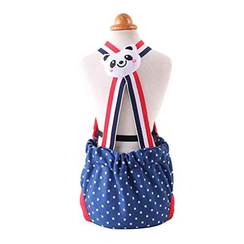 Nai-storage Pañales Femeninos para Perros, pañales Lavables de algodón Reutilizables con Tirante Ajustable para Perros (Color : Blue, Size : Small)