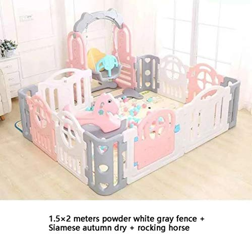 Why Choose Baby Vivo Large Baby Plastic Big Playpen Foldable Portable Room Divider Child Kids Barrie...