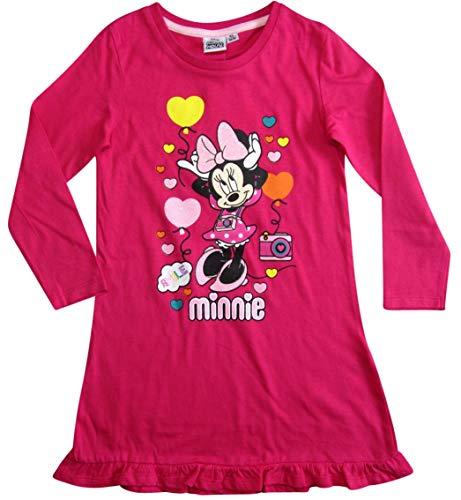 Minnie Mouse Nachthemd Nachtwäsche Nachtrobe Disney (Fuchsia, 92)