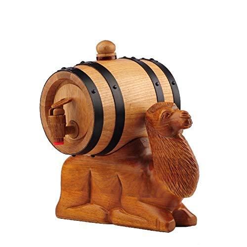 Wood Oak Wine Barrel - vintage stijl tablet wijn dispenser , handgesneden kunst eiken vat, camel tablet vaten B