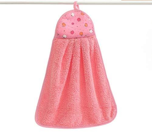 THUMBGEEK Coral Velvet - Accesorios de baño, toallas suaves, absorbentes, paños de cocina, accesorio de cocina, 30 x 40 cm (rosa)