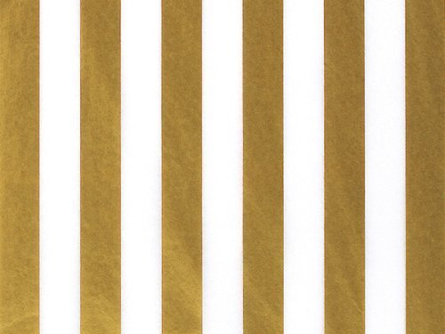 Flexicore Packaging Gold Striped Gift Wrap Tissue Paper Size: 20 Inch X 30 Inch | Count: 24 Sheets | Color: Gold Striped