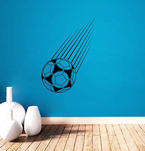 Voetbal patroon wanddecoratie huisdecoratie muursticker vinyl wanddecoratie kunst verwijderbare sportmuurschildering 44x61cm