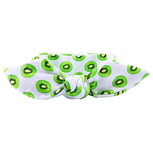 Baby Meisjes Leuke Boog Turban Hoofdband Fruit Print Haarband Hoofd Wrap