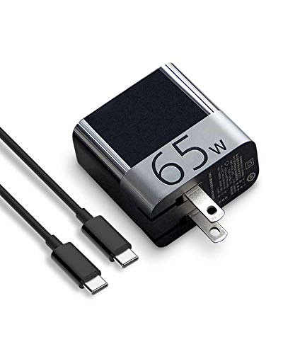 ZMI zPower Turbo 65W USB-C PD Wall Charger Compatible with Laptops Chargeable via USB-C (Not Compatible with Legacy Models with Barrel Charging Ports) - Black