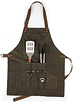 Picnic Time Legacy BBQ Apron with Tools & Bottle Opener
