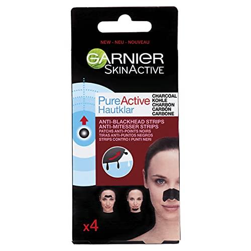 Garnier Viso Pure Active Charcoal Contro Punti Neri, 4 Strisce