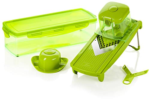 Genius Speed Slicer Medium | 6 Teile | Obst-& Gemüseschneider | NEU …, Edelstahl, Grün