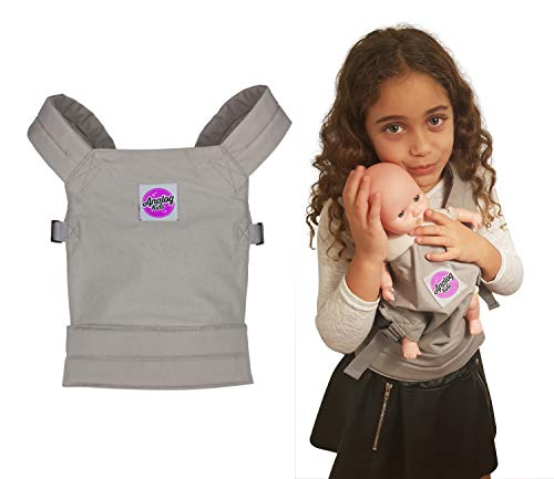Analog-Kids Baby Doll Carrier for Girls and Boys Backpack Carrier for Front or Back Wear   Comfortable and Fun for Kids and Toddlers Pretend Baby and Toy Doll   Galaxy Grey   Cotton Canvas