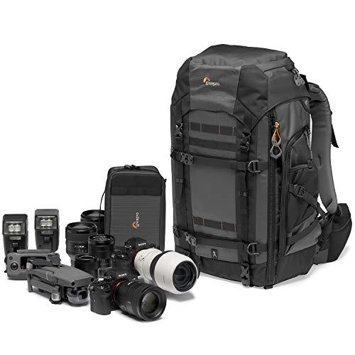 Lowepro Pro Trekker BP 550 AW II Zaino Fotografico Outdoor con Divisori MaxFit per Laptop/iPad 15', Pro Mirrorless e DSLR, Sony, Canon, Nikon, Gimbal, Drone, DJI, Nero/Grigio Scuro