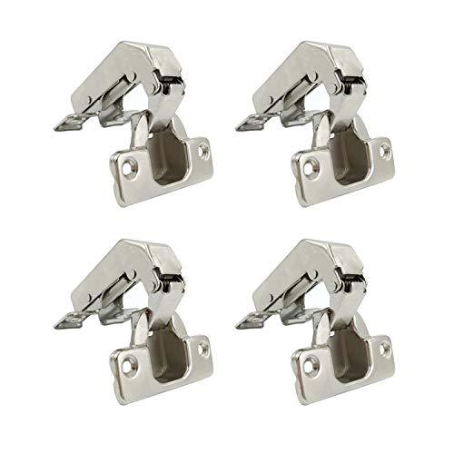 LIKERAINY 95 Grad Kurzes Stollenscharnier Stollenband 35mm mit Dämpfung Topfscharnier Küche Topfband mit Schließautomatik für Schranktür Scharnier für Küchenschrank Möbel 4 Stück