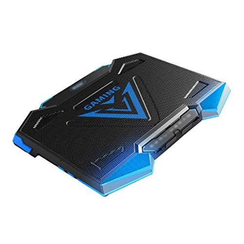 QIFFIY Base Portatil Base Refrigeradora Laptop Cooling Pad Gaming Laptop Cooler, con Alta Velocidad Ventiladores Ajustables refrigerador portátil, 7 Heights Stand, 2 Puertos USB