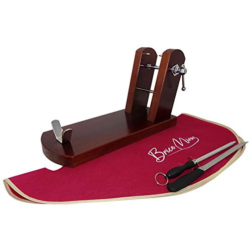 BRICOMIRAS JAMONERO Modelo Rioja Home Color Nogal, Regalo Cuchillo JAMONERO + CHAIRA...
