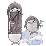 Pillow Sleepy Sack for Kids, Animals Kids Sleeping Bag with Foldable Furry,Super Soft,for Bedroom, Outdoor (Grey)