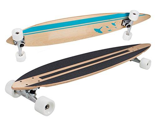SportPlus Low concave Skateboard, Azul, Talla Única