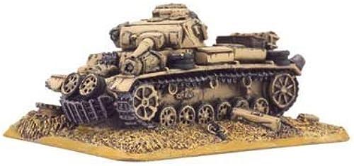 German  Destroyed Panzer III by Battlefront Miniatures
