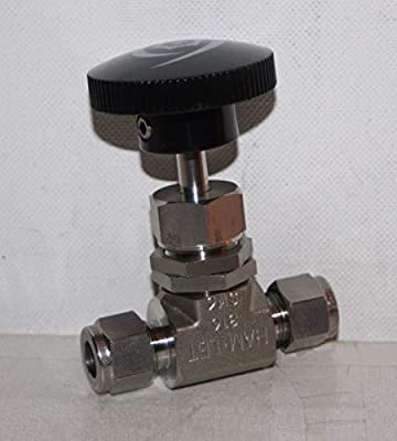 """3/8"""" Tube-Fitting 5000 Psi SS Needle Valve Ham-Let H-300-SS-L-R-3/8-RS from Ham-Let"""