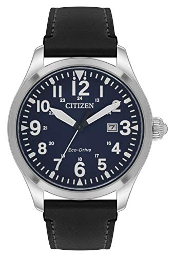 Citizen Men's Eco-Drive Analogue Watch with Leather Strap BM6831-41L