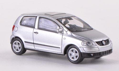 VW Fox, Silber , Modellauto, Fertigmodell, Norev 1:87