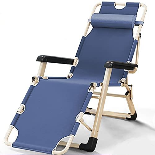 Sillas plegables de tela Silla plegable independiente individual, silla plegable ajustable para balcón Oficina portátil de ocio para balcón, silla reclinadora de patio reclinable para jardín de playa