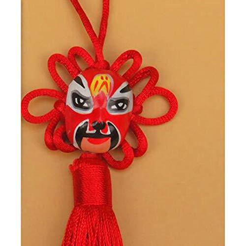Creative Opera gezicht Knotting kwastrand voor sleutels auto tas sleutelhanger handtas paar sleutelhangers geschenken mode