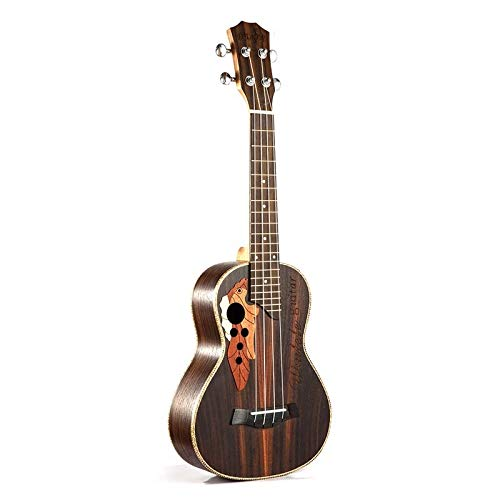 PNLD Sopran Konzert Ukulele 23 Zoll Palisander uku Ukelele mit 4 Feins -Hawaii-Gitarre Musikinstrumente (Farbe : Brown, Größe : 23 inches)