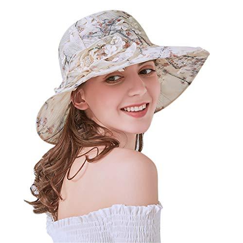 womens novelty sun hats DIOMOR Womens Elegant Flower Decoration Foldable Sun Hat Packable Bow Fedora Travel Beach Cap Wide Brim Floppy Straw Hat