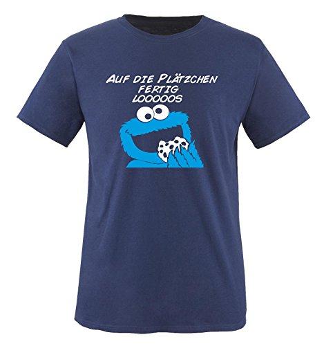 Comedy Shirts sur Les Biscuits prêt looooos – T-Shirt pour Enfant Taille 86 à 164 différents Coloris. - Bleu - L