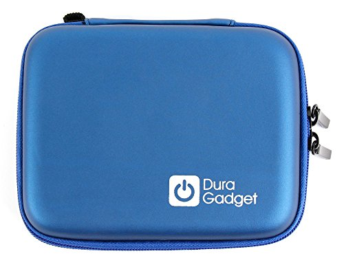 DURAGADGET Blue Hard Protective Shell Case w/Dual Zips - Compatible with Tomtom XL. 1000 | 1005 | via & Live (All 4.3-inch Models) Satnavs