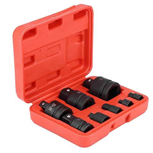 Steckschlüssel-Adapter-Set, 8 Stück, professioneller Schlagschrauber-Konverter-Reduzieradapter, gut verpackt in einem Kunststoffkoffer, 1/4 Zoll, 3/8 Zoll, 1/2 Zoll, 3/4 Zoll, 1 Zoll