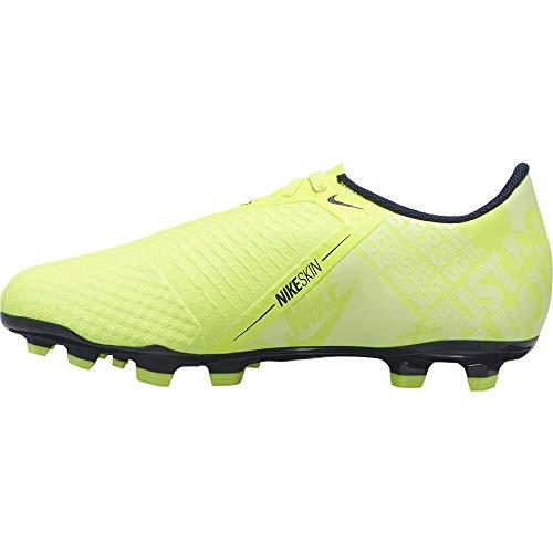 Nike Jr. Phantom Venom Academy FG, Botas de fútbol Unisex niño, Verde (Volt/Obsidian/Volt 717), 28 EU