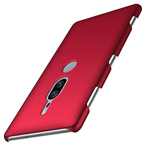 anccer Kompatibel mit Sony Xperia XZ2 Premium Hülle, [Serie Matte] Elastische Schockabsorption & Ultra Thin Design (Glattes Rot)