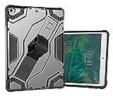 XUEMEI Accesorios de pestañas para iPad 9.7 Pulgadas 2017 2018, Caja de Armadura híbrida Tableta a Prueba de Golpes para iPad 9.7 Pulgadas (Color : Gray)