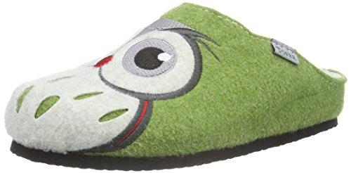 Tofee Damen 74-3017 Eule Pantoffeln| Grün (hellgrün)| 37 EU | Schuhe > Hausschuhe > Pantoffeln | TOFEE