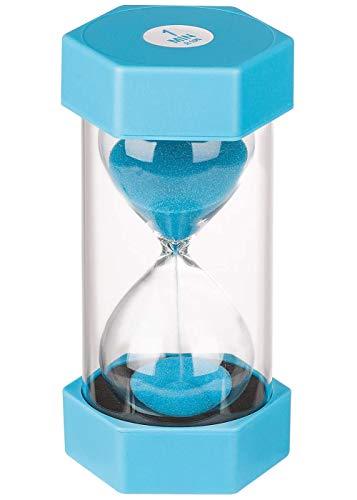 Reloj de Arena, Doble protección,temporizadores de Arena, Asistente de gestión del Tiempo, Regalo Creativo, decoración de la Oficina de la Sala de Estar (1 Minuto, Azul)