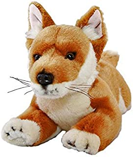 Bocchetta Plush Toys Grey Kangaroo Lying 35cm Animal Stuffed Toy for Kids Joy