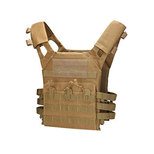 DADEA Gilet tattico leggero, gilet tattico JPC, gilet da combattimento per gli uomini, regolabile e leggero, gilet protettivo durevole, Uomo, 210106QY03-1-7693-1617506011, cachi, 13.4x11 in