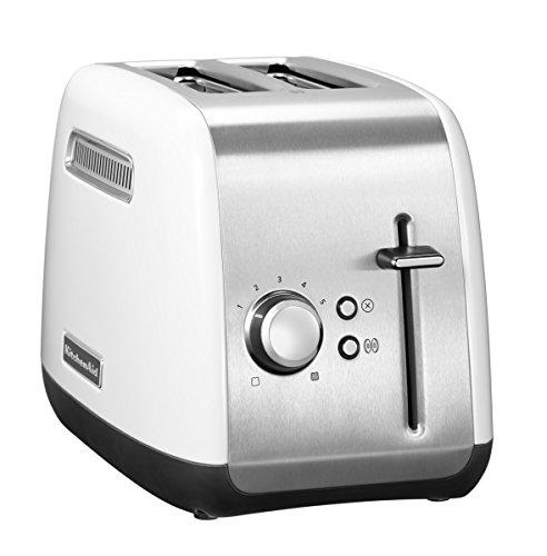 KitchenAid CLASSIC 2rebanada(s) Plata, Blanco - Tostador (2 rebanada(s), Plata, Blanco, Metal, Botones, Giratorio, China, 220-240)