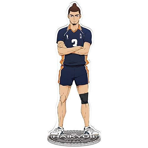 Jilijia Haikyuu!! acrilico Kageyama Tobio DXF Vol. 3 figura in piedi figura 8,3 (21 cm) doppio lato trasparente scrivania decorazione stand miniatura action figure decorazione